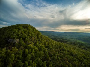 Ozark Drones Round Top Mountain Aerial