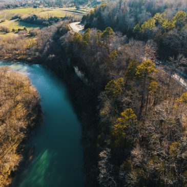 Aerial Photo of Spring in the Ozarks