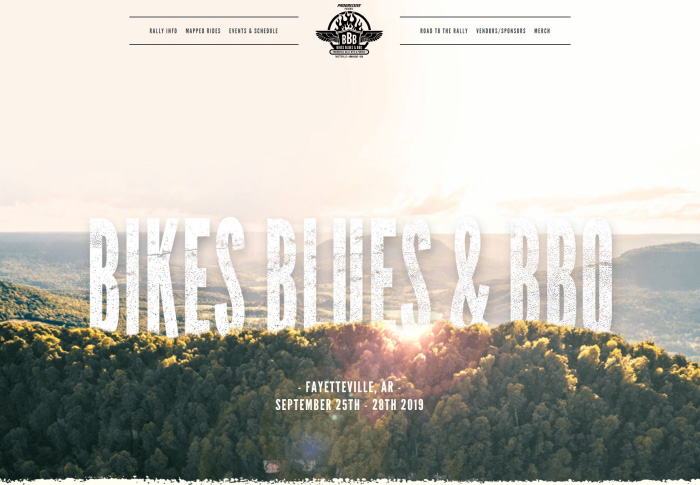 Bike Blues BBQ Website Image